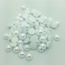 New 400pcs4mm Half Pearl Round BeadS Flat Back Scrapbook for Craft White