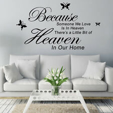 Removable Art PVC Vinyl Quote Stickers Wall Mural Decal DIY Home Room Decor