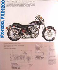 1975 Harley Davidson Brochure Super Electra Glide Sportster FX 1200 FLH XL 1000