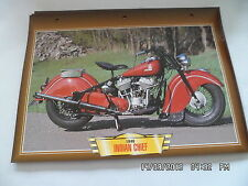 CARTE FICHE MOTO 1946 INDIAN CHIEF