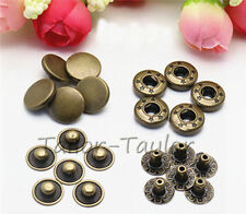 10 Set Metal Snap Buttons Fastener Poppers Denim Jeans Sewing Jean Pants 10mm