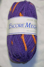 Plymouth Encore Mega Colorspun Wool Blend Bulky Yarn 100g 7134 Orange Purple
