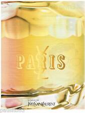 PUBLICITE ADVERTISING 105  2002  YVES SAINT LAURENT   parfum PARIS femme