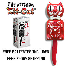 """SCARLET KIT CAT CLOCK 15.5"""" MADE IN USA Official Klock- Free Batteries! New!!!!!"""
