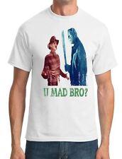 U Mad Bro? Freddy v Michael Myers - Funny - Mens T-Shirt