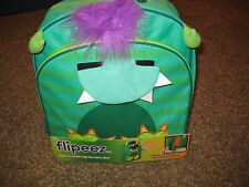 Flipeez Monster Backpack Green Youth Boy Girl Mouth Opens When Pump is Pushed
