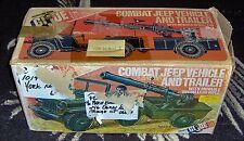 "VINTAGE-1964-HASBRO-12""-GI JOE-ADVENTURE TEAM-""COMBAT JEEP/TRAILER"" BOX-1976-C5"