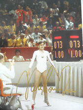 RARE NADIA COMANECI SIGNED IN PERSON LARGE PRINT COA OLYMPIC PERFECT SCORE