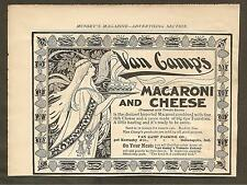VINTAGE AD MUNSEY'S MAGAZINE - VAN CAMP'S MACARONI AND CHEESE & FARINA COLOGNE