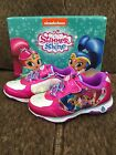NEW Light Up Nickelodeon Shimmer & Shine Shoes Sneakers ~Size 8 ~ Free Ship