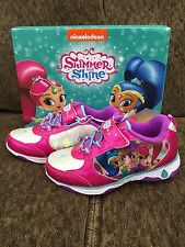 NEW Light Up Nickelodeon Shimmer & Shine Shoes Sneakers ~Size 7~ Free Ship