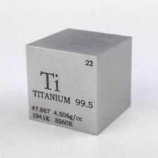 1 inch 25.4mm Pure Iron Metal Cube 128g 99.95/% Engraved Periodic Table