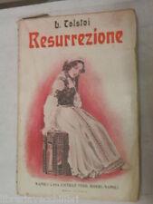 RESURREZIONE Leone Tolstoj Bideri 1925 Vol II libro romanzo narrativa storia di