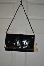 MICHAEL KORS Beverly Black Leather Oversized Clutch Handbag Bag/Purse $228+