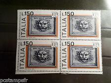 ITALIE ITALIA, 1976, timbre 1275, QUARTINA EXPO PHILATELIQUE neuf** VF MNH STAMP