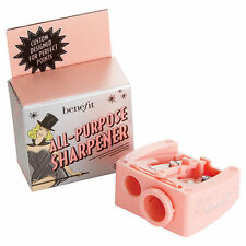 Benefit Cosmetics Dual Double All Purpose Pencil Eyeliner Sharpener Pink Plastic