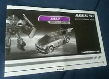 TRANSFORMERS MOVIE JOLT INSTRUCTION BOOKLET ONLY FREE S/H
