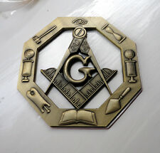 ZPL Masonic Masons LARGE badge with G Geometry Freemason Square Compass Tools