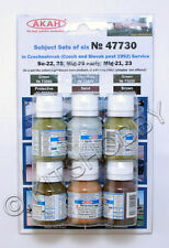 AKAN 47730 Hobby Color Paints Set For Czechoslovak Aircraft (6 colors)