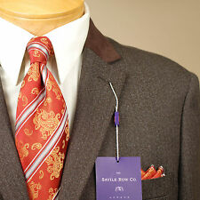 36S  SAVILE ROW 2 Button Brown Tweed Men's Sport Coat  36 Short - S60