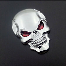 Skull Bone Car Motorcycle Emblem Metal Badge 3D Car Decal Sticker Sign Bumper