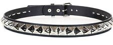 Solid Large Stud Leather Punk Belt Goth Rock Heavy Metal Garage Band  Emo Grunge
