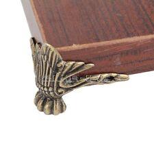 4pcs Antique Bronze Wooden Box Desk Table Foot Corner DIY Protector Zinc Alloy