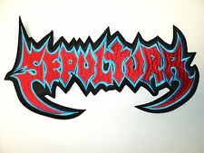 SEPULTURA  SHAPED LOGO EMBROIDERED BACK PATCH