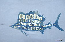 Sport Fishing Size Matters,Old Guys Rule,Surf Tee,XLarge,Blue,Sailfish