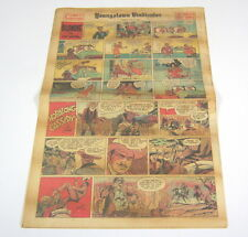 1953 Sunday Funnies Newspaper Comic Section 12 Pages:Dick Tracy,Mickey Mouse+ NR