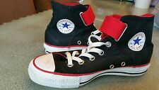 CONVERSE ALL STAR CHUCK TAYLOR WOMENS SZ 6 HIGHTOP SHOES BLACK RED WHITE