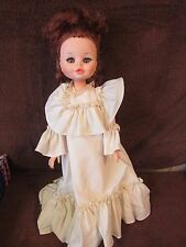 Furga Italy Doll Vintage Rare In Long Cream Colored Dress # 1760T