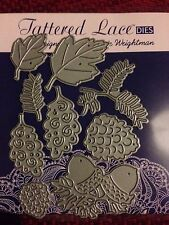 NEW UNOPENED  TATTERED LACE 9  DIE SET - FOLIAGE/LEAVES/ACORNS ETC