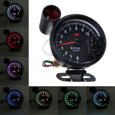 "5.1"" Adjustable 7 Color LED Rev Counter Tachometer Gauge 11K RPM Shift Light"