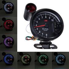 """5.1"""" Adjustable 7 Color LED Rev Counter Tachometer Gauge 11K RPM Shift Light"""