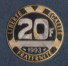 TOP RARE MONNAIE DE 20 FRANCS MONT SAINT MICHEL BELLE EPREUVE 1993 FDC @ BE TOP
