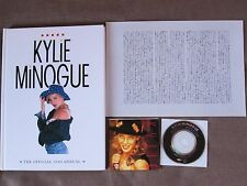 "KYLIE MINOGUE The Official 1990 Annual JAPAN ISSUE w/3"" CD+8p BOOKLET ALZB-2 Ex"
