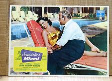 SCANDALO A MIAMI fotobusta poster Lee J Cobb Patricia Medina Miami Expose 1957
