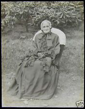 VICTORIAN Glass Magic Lantern Slide OLD LADY DATED AUGUST 1893 PHOTO NO2