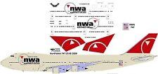 Northwest final Boeing 747-200 decals for Revell 1/144 kit