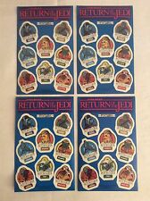 4x Original Star Wars Return Of The Jedi Sticker Sheets 1980s Job Lot