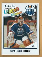 GRANT FUHR OPC RETRO LEGEND CARD EDMONTON OILERS PLAIN  BACK