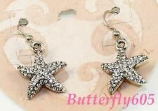 Brighton Windstar Starfish Crystal Silver Earrings New without card
