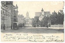 Brussels Rue De La Regence PPC 1904 Leopold Quartier PMK to Champery,