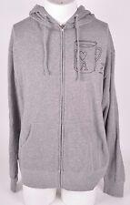 2016 NWOT MENS CHOCOLATE I LOVE LA SWEATSHIRT $50 L grey fleece zip up sweater