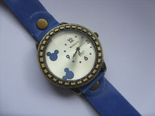 Smart Adults Mickey // Minnie Mouse Quartz Watch Blue Leather Strap