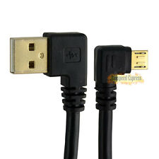 USB 2.0 A Male Left Angle to Micro B 5 Pin Male Plug Right Angle Cable Adapter