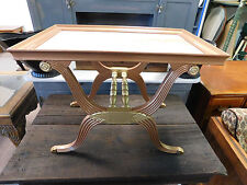 VINTAGE  NEO ROMAN  HALL TABLE /STAND  HAND PAINTED COPPER GOLD FAUX MARBLE