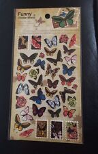 Butterflies Sticker Sheet Individual Butterfly Stickers Craft Scrapbook