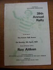 08/04/1984 Celtic: Annual Rally, Programme For The 39th Event Held By The Celtic